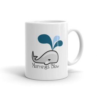Mornings Blow Whale Ceramic Mug