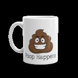 Poop Happens Poop Emoji Ceramic Mug