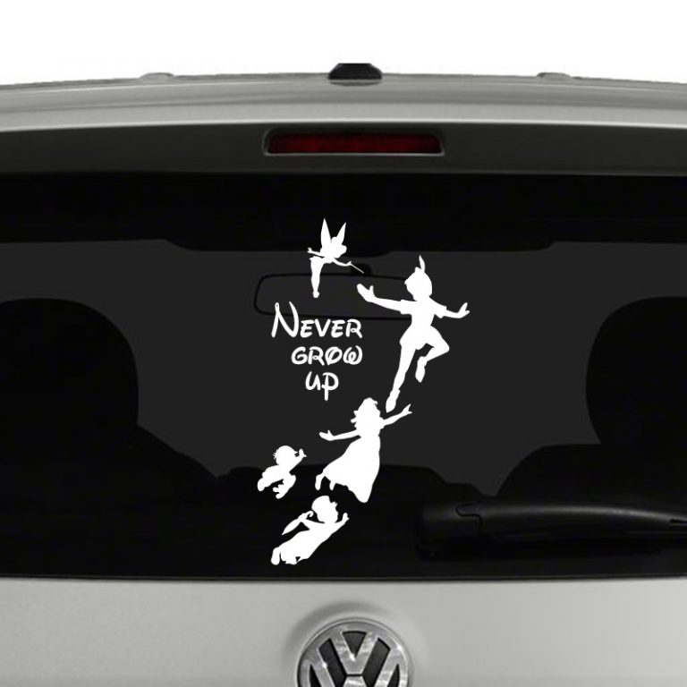 Peter Pan Never Grow Up Disney Inspired Vinyl Decal Sticker