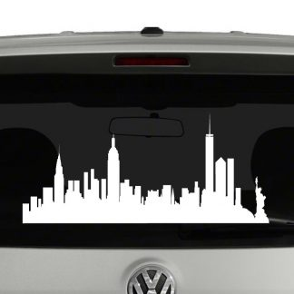 New York Skyline Silhouette Vinyl Decal Sticker
