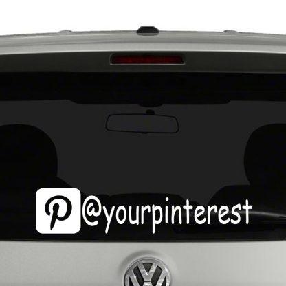 Pinterest Icon Account Tag Vinyl Decal Sticker Social Media
