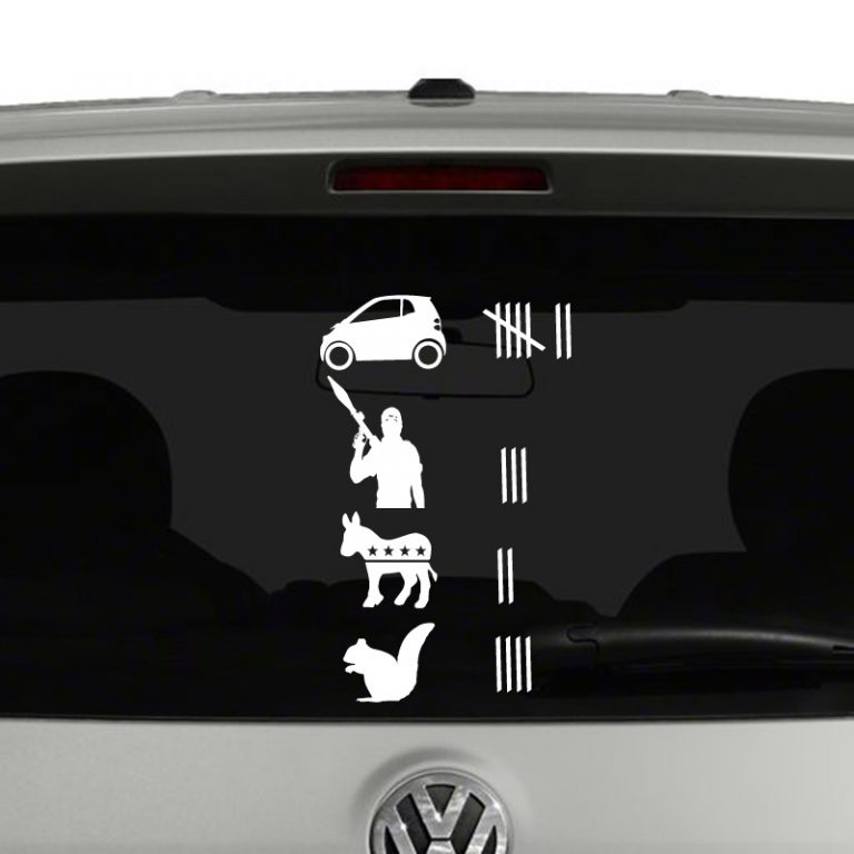 Road Kill Tally Score Vinyl Decal Sticker Funny Off Road Truck SUV