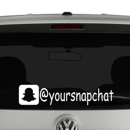 Snapchat Icon Account Tag Vinyl Decal Sticker Social Media