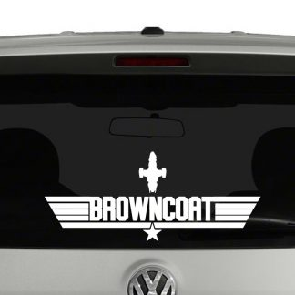 Browncoat Firefly Serenity Top Gun Mash Up Vinyl Decal Sticker
