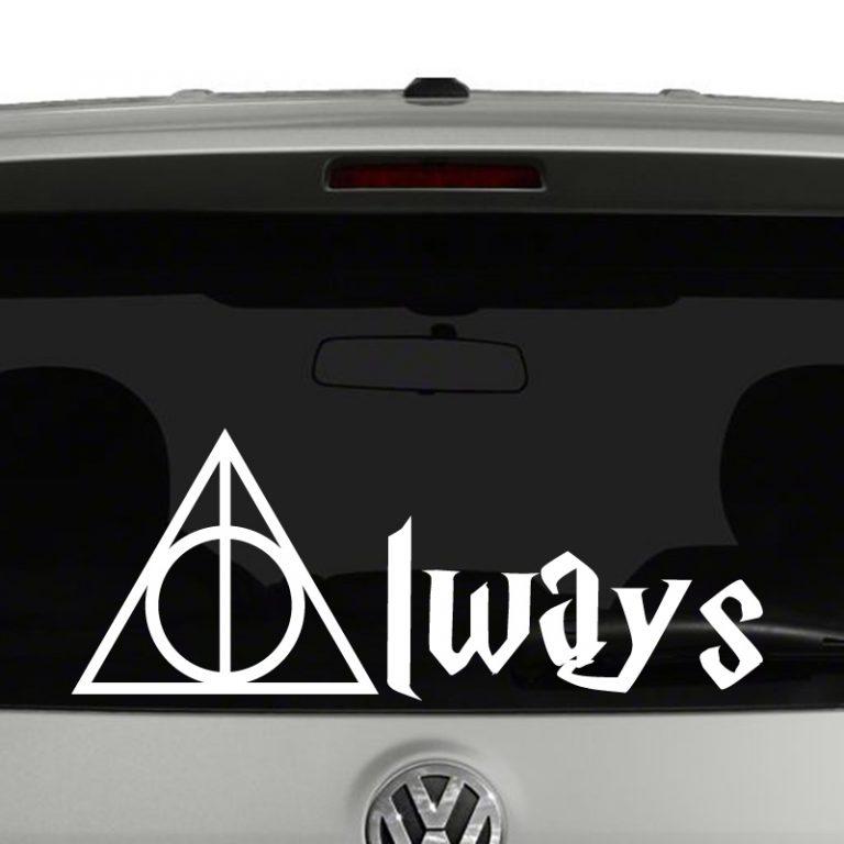 Harry Potter Deathly Hollows Always Vinyl Decal Sticker