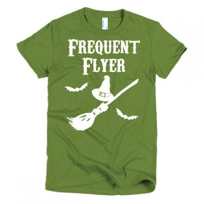 Frequent Flyer Witches Broom Short Sleeve Women's T-Shirt