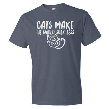 Cats Make The World Suck Less Cat Lovers T-Shirt