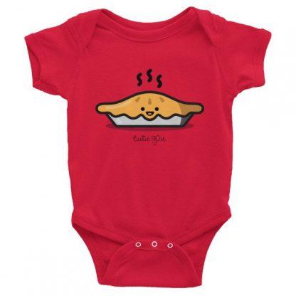 Cutie Pie - Pie Graphic Baby Short Sleeve Onesie