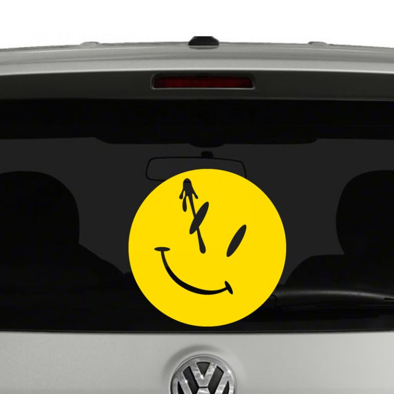 Watchmen Comedian Smiley Face Pin Blood Vinyl Decal Sticker