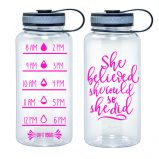 Water Tracker - She Believed She Could So She Did Sports Water Bottle 34 Oz