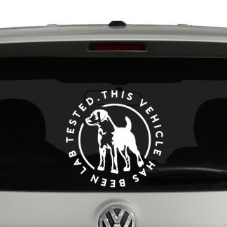 This Vehicle Has Been Lab Tested Labrador Dog Vinyl Decal Sticker