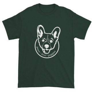 Peace Love Puppies Corgi Dog Lovers T-Shirt