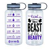 Water Tracker – Train Like A Beast Look Like A Beauty Sports Water Bottle 34 Oz