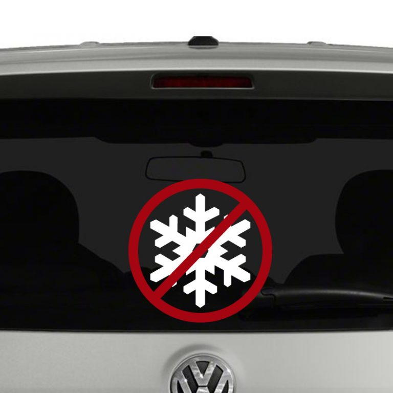 No Snowflakes Stop Whining Vinyl Decal Sticker