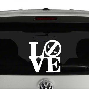 Love Deadpool Vinyl Decal Sticker