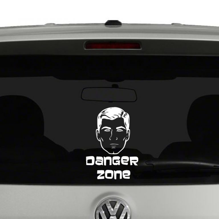 Archer Inspired Danger Zone Vinyl Decal Sticker
