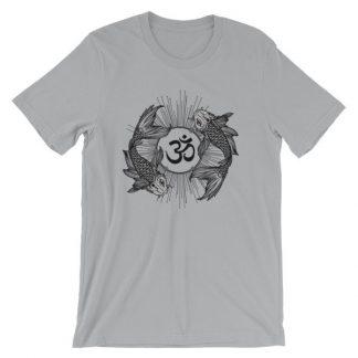 Koi Fish Yin Yang Aum Om Symbol T-Shirt