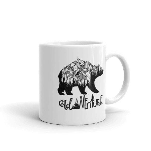 Mountain Bear Outdoor Adventure Wanderlust Coffee Mug
