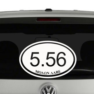 Rifle 5.56 Molon Labe AR15 Rifle 2nd Amendment Vinyl Decal Sticker