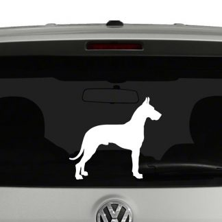Great Dane Dog Silhouette Vinyl Decal Sticker Car