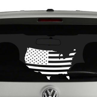 American Flag on United States Map Vinyl Decal Sticker Car