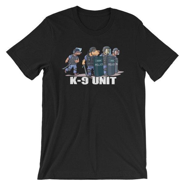 Police K9 Unit Sheepdog Leo Police Dog Funny T Shirt