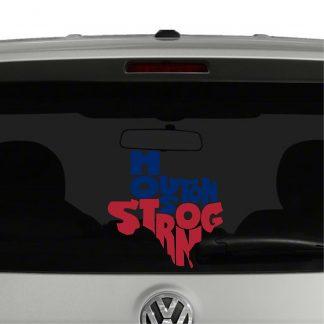 Houston Strong Hurricane Harvey Texas Support Vinyl Decal Sticker