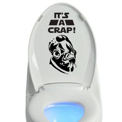It's A Crap Toilet Lid Star Wars Inspired Vinyl Decal Sticker