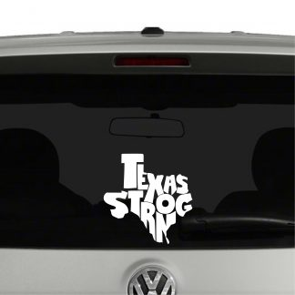 Texas Strong Hurricane Harvey Texas Support Vinyl Decal Sticker