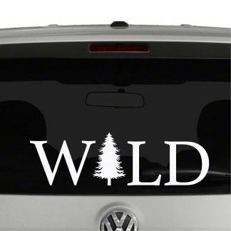 WILD with Tree Vinyl Decal Sticker