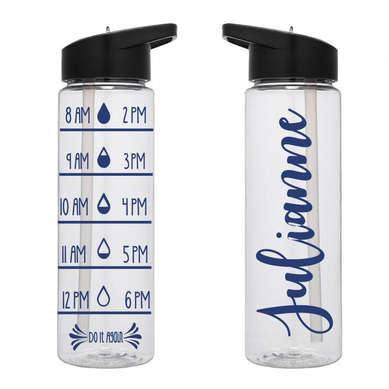 Water Tracker – Custom Name Sports Water Bottle 24 Oz
