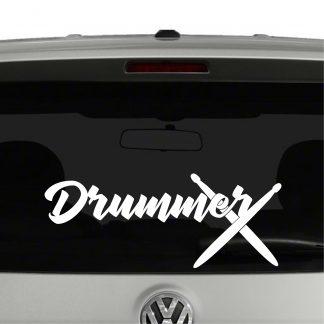 Drummer Marching Band Drum Sticks Vinyl Decal Sticker
