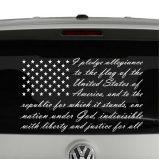 American Flag Pledge of Allegiance Vinyl Decal Sticker