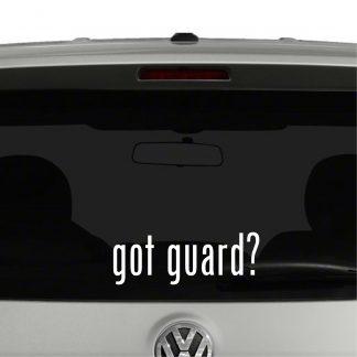 Got Guard? Color Guard Support Vinyl Decal Sticker Got Milk Parody