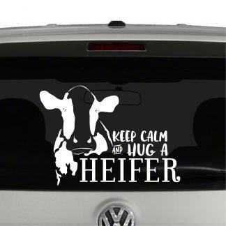 Keep Calm and Hug a Heifer Vinyl Decal Sticker