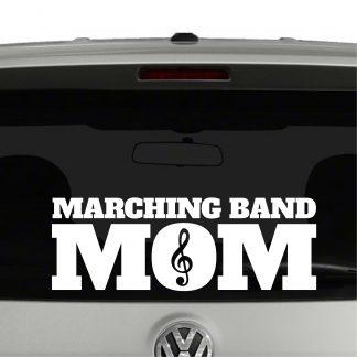 Marching Band Mom Treble Vinyl Decal Sticker