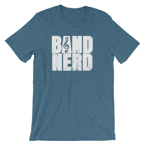 Band Nerd Funny Marching Band Geek Treble Clef T Shirt