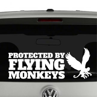 Protected By Flying Monkeys Wizard of Oz Inspired Vinyl Decal Sticker