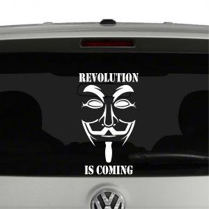 Revolution is coming Vendetta Vinyl Decal Sticker