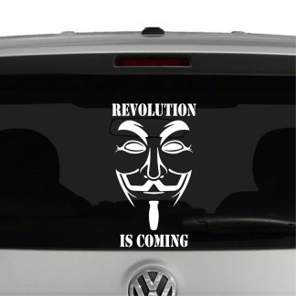 Revolution is coming Vendetta Vinyl Decal Sticker