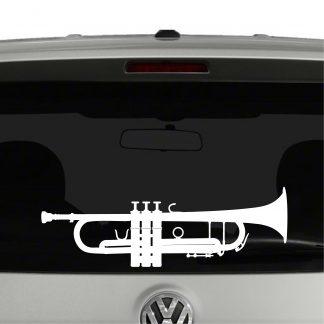 Trumpet Silhouette Band Player Vinyl Decal Sticker