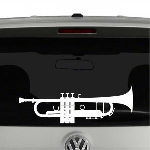 Trumpet Silhouette Band Player Vinyl Decal Sticker