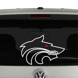 West HillS High School Wolf Pack Logo Vinyl Decal Sticker