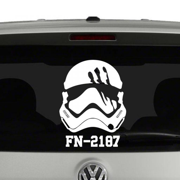 Finn Stormtrooper FN-2187 Star Wars Inspired Vinyl Decal Sticker