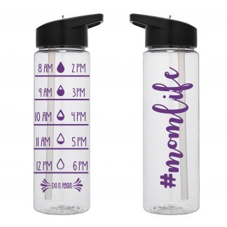 Water Tracker – #momlife Hashtaag Mom Life Sports Water Bottle