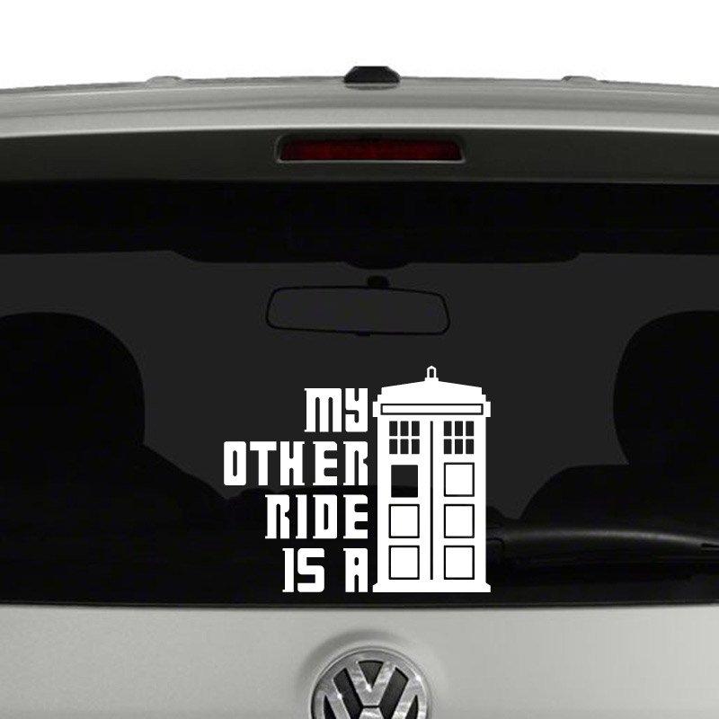 Doctor Who Tardis Black SCI-FI//Comics//Games Automotive Decal//Bumper Sticker
