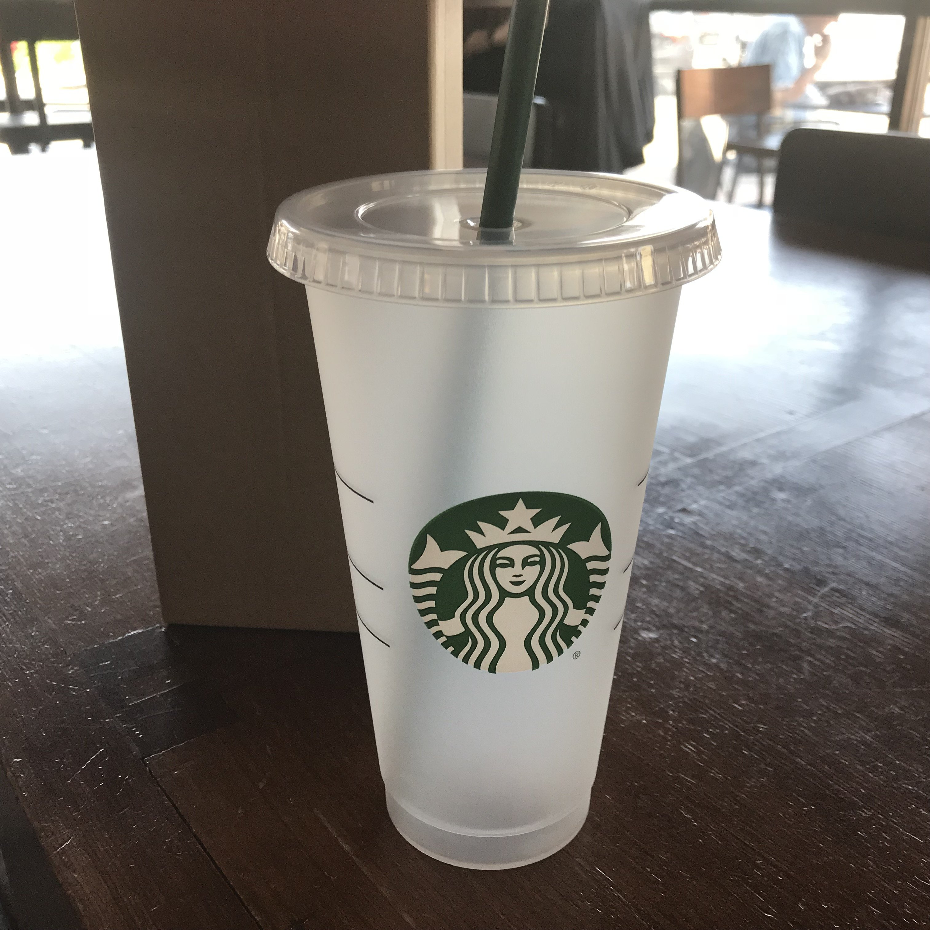 Starbucks 24oz Reusable Cold Cup With Custom Personalized Name And Drink