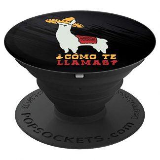 Como Te Llamas Funny Llama Spanish Word Humor T-Shirt - PopSockets Grip