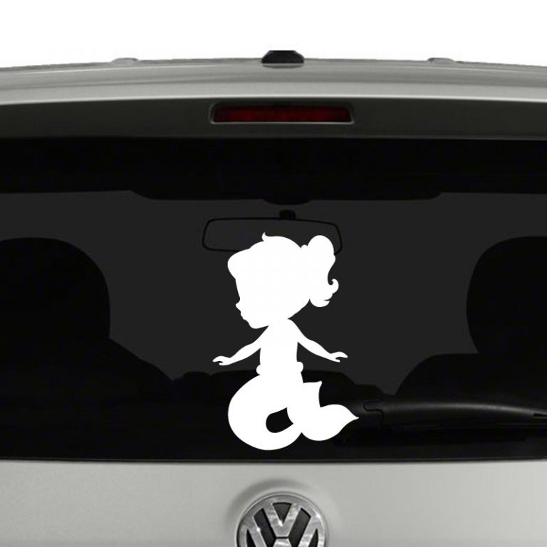 Baby Mermaid Vinyl Decal Sticker