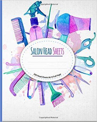 Salon Head Sheets: Watercolor Design Salon Tools